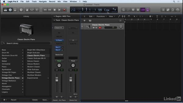 Working with a MIDI controller and musical typing: Producing Electronic Music in Logic Pro