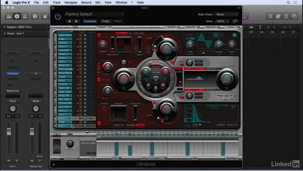 Using Ultrabeat in multi-output mode: Producing Electronic Music in Logic Pro