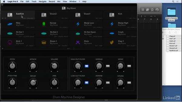 Working with Drum Machine Designer: Producing Electronic Music in Logic Pro