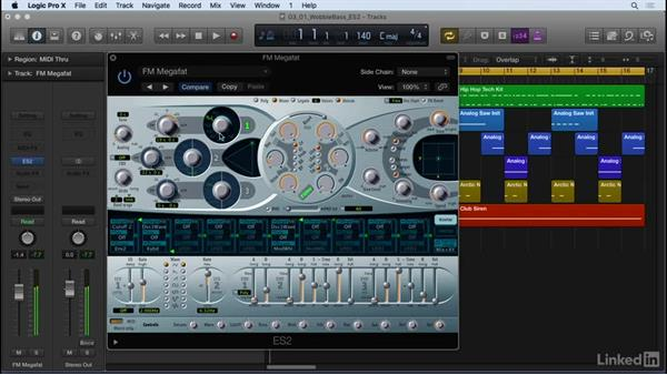 Creating a wobble bass: Producing Electronic Music in Logic Pro