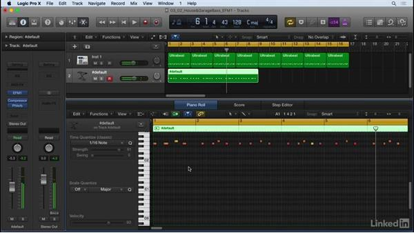 Creating a bassline in house music: Producing Electronic Music in Logic Pro