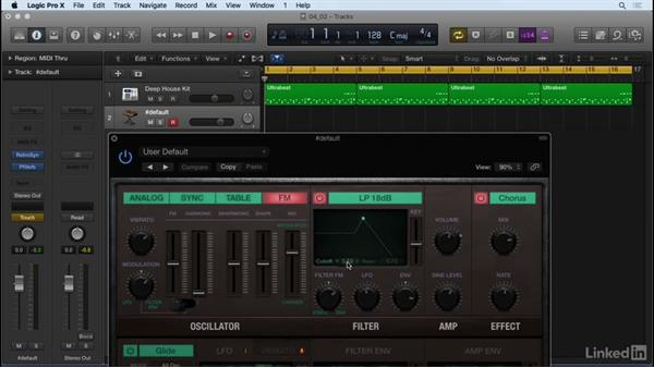 Recording filter automation with Retro: Producing Electronic Music in Logic Pro