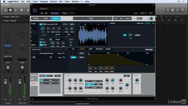 Advanced sound design features with Alchemy: Producing Electronic Music in Logic Pro