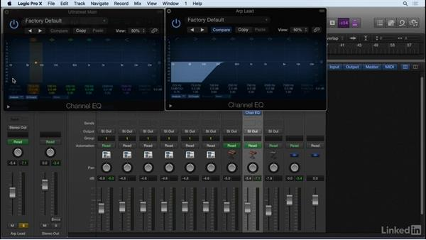 Essential audio effects for mixing: EQ and compression: Producing Electronic Music in Logic Pro