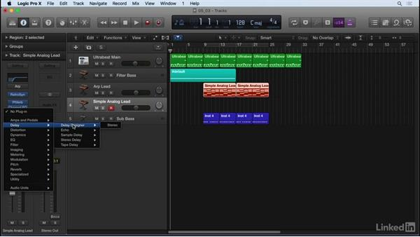 Essential audio effects for mixing: Reverb and delay: Producing Electronic Music in Logic Pro