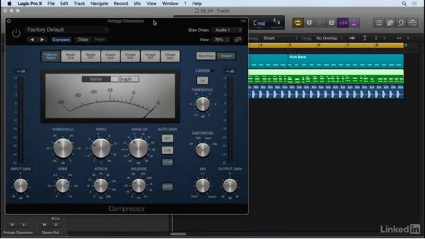 Using sidechain compression: Producing Electronic Music in Logic Pro