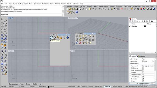 Setting up the pop-up menu: Rhino: Learn Basic Jewelry Modeling