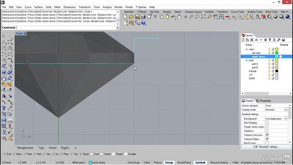 Building the curves of the bezel: Rhino: Learn Basic Jewelry Modeling