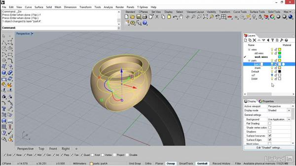 Building the surfaces of the bezel: Rhino: Learn Basic Jewelry Modeling