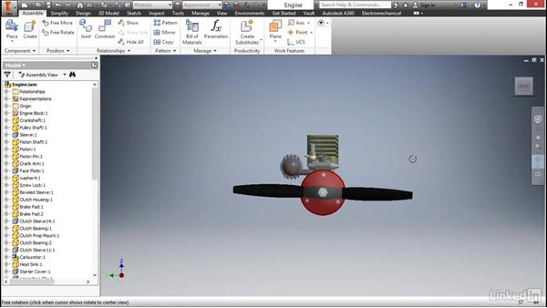 Using the navigation tools: Autodesk Inventor 2017 Essential Training