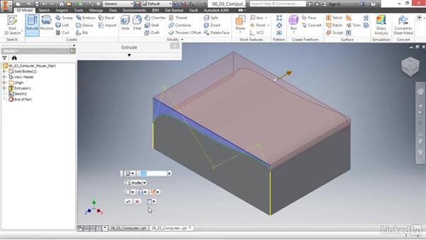 Creating splines: Autodesk Inventor 2017 Essential Training
