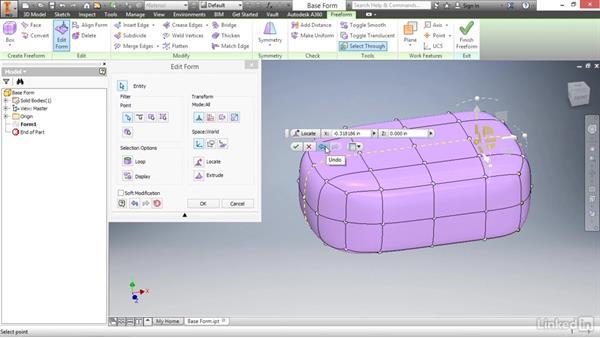 Understanding the Edit Form tool: Autodesk Inventor 2017 Essential Training