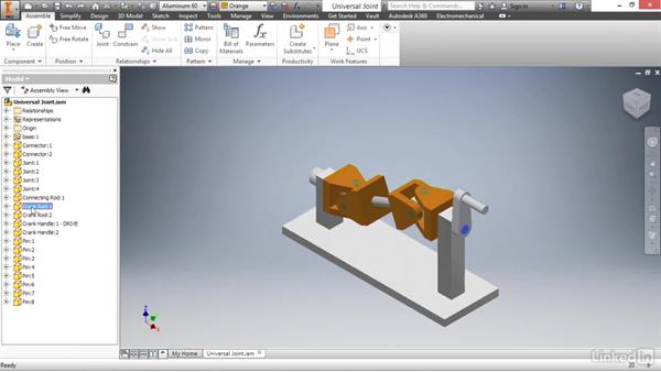 Assemblies introduction: Autodesk Inventor 2017 Essential Training