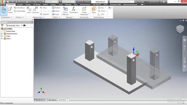 Placing components: Autodesk Inventor 2017 Essential Training
