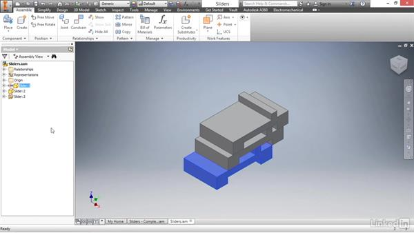 Contact sets: Autodesk Inventor 2017 Essential Training