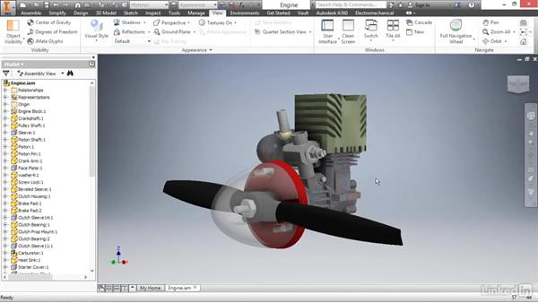 Enhancing the design experience with visual settings: Autodesk Inventor 2017 Essential Training