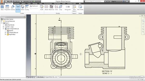 Creating section views: Autodesk Inventor 2017 Essential Training