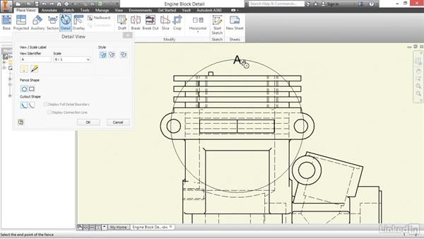 Creating detail views: Autodesk Inventor 2017 Essential Training