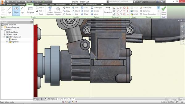 Creating breakout views: Autodesk Inventor 2017 Essential Training