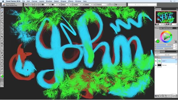What are particles & speckles, anyway?: Painting with Particle Brushes in Painter