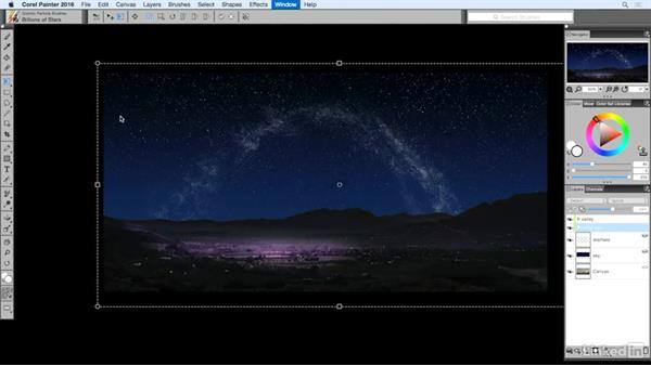 Distorting the Milky Way: Painting with Particle Brushes in Painter