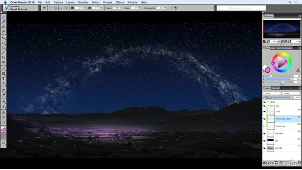 Coloring the Milky Way: Painting with Particle Brushes in Painter