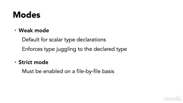Overview of scalar type declarations: Strict Data Types in PHP