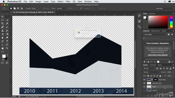 Cutting up flattened infographics into layers with Photoshop: After Effects Guru: Animating Infographics