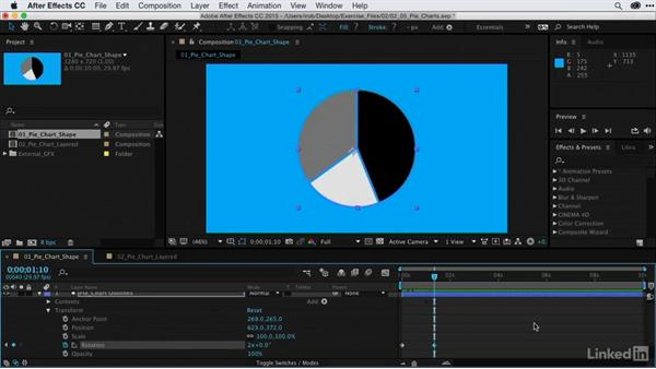 Animating pie charts: After Effects Guru: Animating Infographics