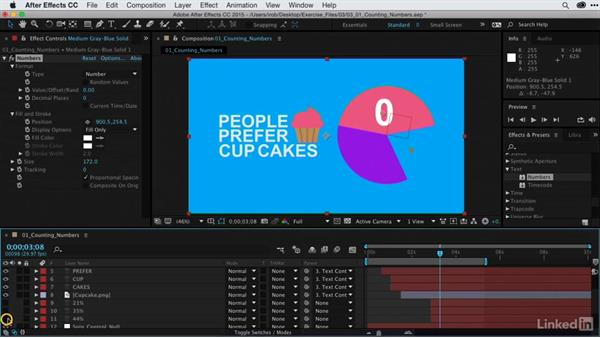 Creating numbers that count: After Effects Guru: Animating Infographics