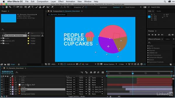 Creating dynamic moves with overshoot animation: After Effects Guru: Animating Infographics