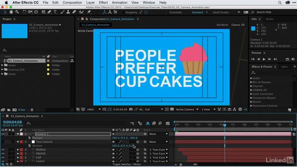 Camera animation techniques to isolate specific information: After Effects Guru: Animating Infographics