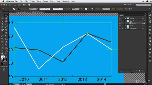 Creating & texturing 3D line graphs from Illustrator files: After Effects Guru: Animating Infographics