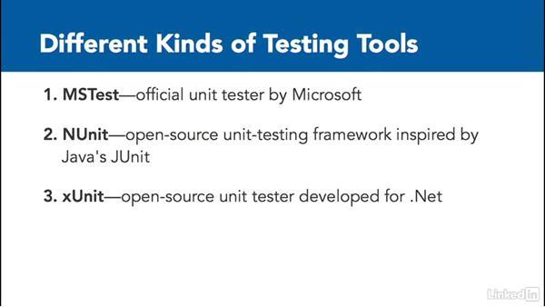 Testing tools (MSTest, NUnit, xUnit, and MbUnit): C# Test Driven Development