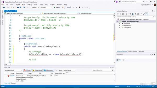 Add a failing test: C# Test Driven Development
