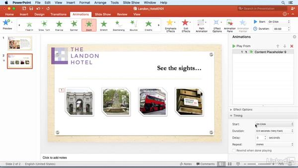 Animate objects with the painter: PowerPoint for Mac 2016 Power Shortcuts