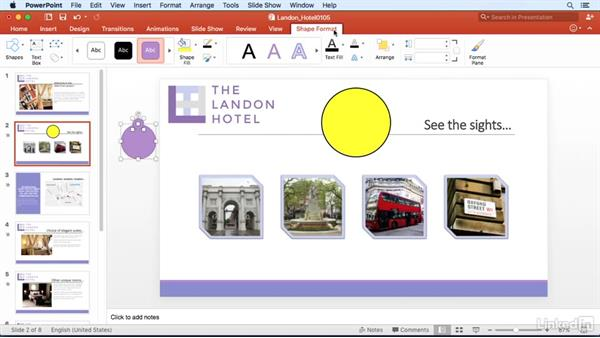 Merge shapes to create a custom shape: PowerPoint for Mac 2016 Power Shortcuts