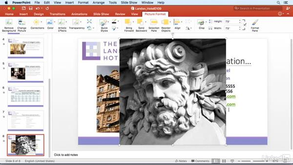 Fit an image into another shape: PowerPoint for Mac 2016 Power Shortcuts