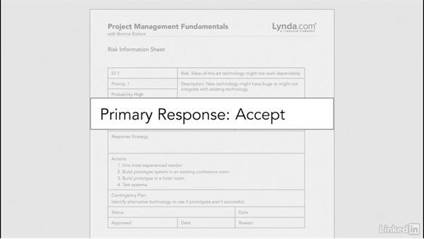 Create a risk management plan: Project Management Fundamentals