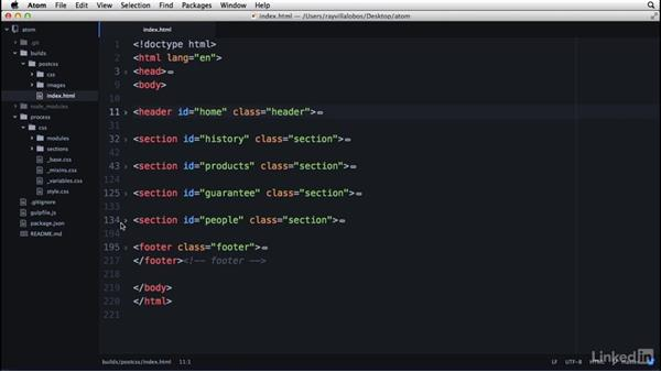 Managing and folding content: Learn Atom: The Basics