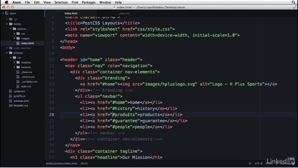 Modifying content: Learn Atom: The Basics