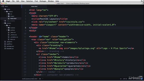 Using and customizing theme styles: Learn Atom: The Basics
