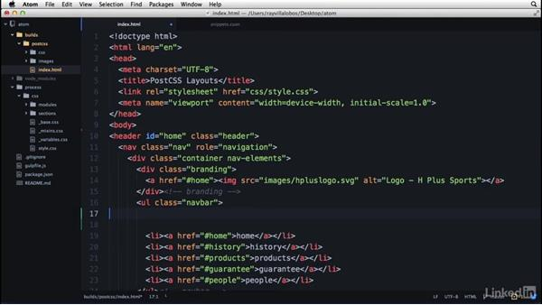 Creating your own snippet shortcuts: Learn Atom: The Basics