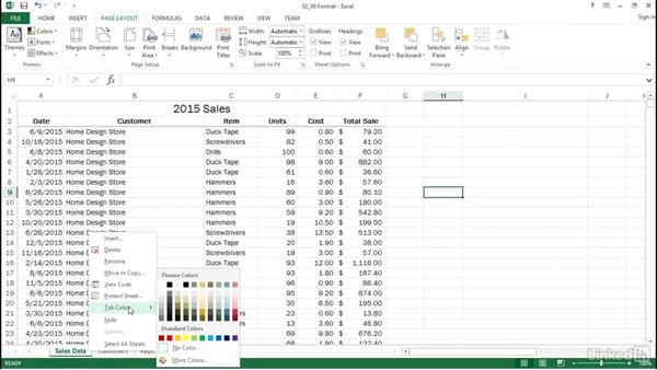 Format using styles or themes: Excel 2013: Prepare for the Microsoft Office Specialist Certification Exam (77-420)