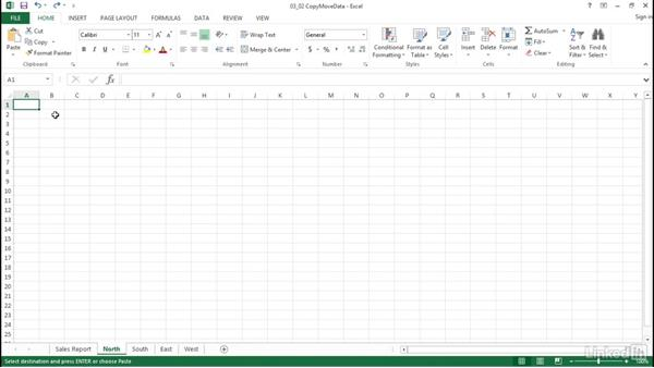 Move data between cells, worksheets, and workbooks: Excel 2013: Prepare for the Microsoft Office Specialist Certification Exam (77-420)