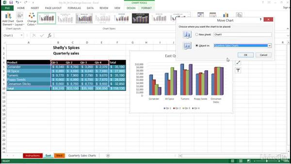Solution: Charts and objects: Excel 2013: Prepare for the Microsoft Office Specialist Certification Exam (77-420)