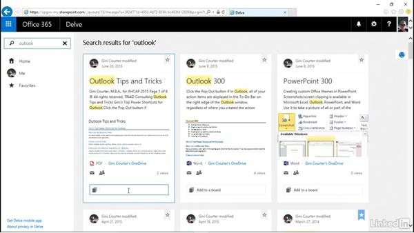 Find relevant information with Delve: SharePoint 2016 and SharePoint Online New Features
