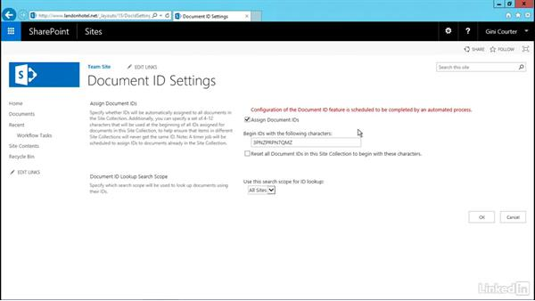 Enable Document IDs for durable links: SharePoint 2016 and SharePoint Online New Features