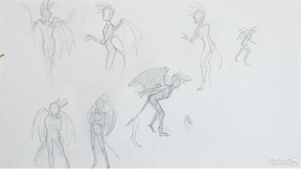 Gesture and silhouettes: Character Development and Design