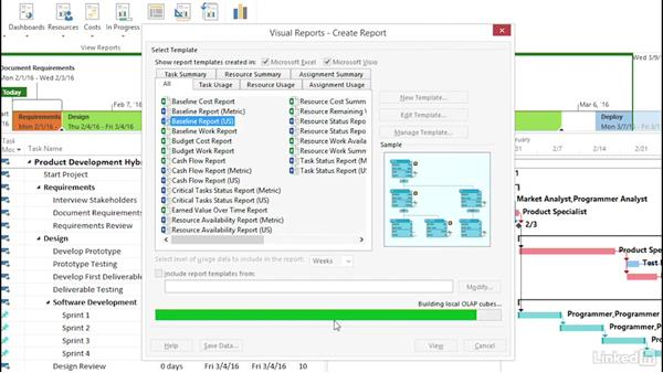Welcome: Visualizing a Report in Microsoft Project